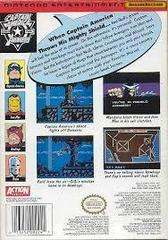 Captain America And The Avengers - Back | Captain America and the Avengers NES