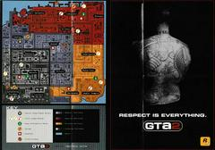 """2 Sided Map/Poster 11"""" X 8"""" - Front   Grand Theft Auto 2 [Collector's Edition] Playstation"""