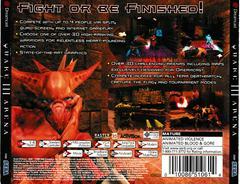 Back Of Case   Quake III Arena Sega Dreamcast