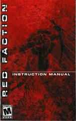 Manual - Front | Red Faction Playstation 2