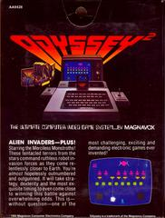 Alien Invaders-Plus! - Back | Alien Invaders-Plus! Magnavox Odyssey 2