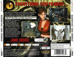 Back Of Case | Resident Evil CODE Veronica Sega Dreamcast