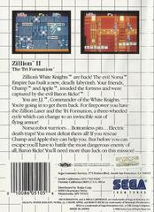 Zillion II - Back   Zillion II Sega Master System