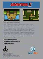 Adventure II - Back | Adventure II Atari 5200