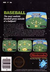 Baseball - Back   Baseball NES