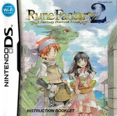 Manual - Front | Rune Factory 2 A Fantasy Harvest Moon Nintendo DS