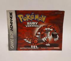 Instructions | Pokemon Ruby GameBoy Advance