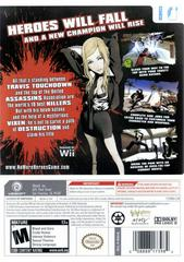 Back Cover | No More Heroes Wii