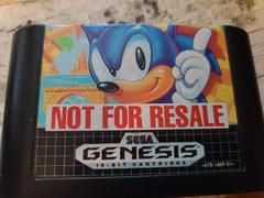 Cartridge (Front) | Sonic the Hedgehog [Not for Resale] Sega Genesis
