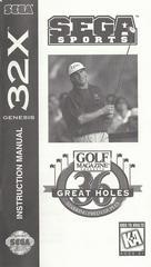 Golf Magazine Presents - Manual   Golf Magazine Presents 36 Great Holes Starring Fred Couples Sega 32X