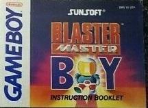 Blaster Master Boy - Manual | Blaster Master Boy GameBoy