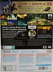 Back Of Box | Zelda Twilight Princess HD [amiibo Bundle] Wii U