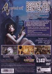 Back Cover   Resident Evil 4 Playstation 2