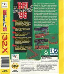 RBI Baseball 95 - Back | RBI Baseball 95 Sega 32X