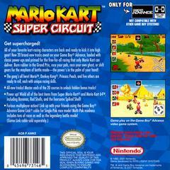 Back Cover | Mario Kart Super Circuit GameBoy Advance