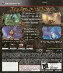 Back Cover | God of War Collection Playstation 3