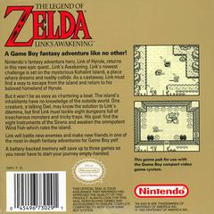 Back Cover | Zelda Link's Awakening GameBoy
