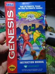 Front Manual | Battletoads and Double Dragon The Ultimate Team Sega Genesis