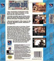 Ground Zero Texas - Back | Ground Zero Texas Sega CD