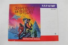Shadow Of The Ninja - Manual   Shadow of the Ninja NES