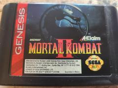 Cartridge (Front) | Mortal Kombat II Sega Genesis
