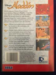 Back Of Case | Aladdin Sega Genesis