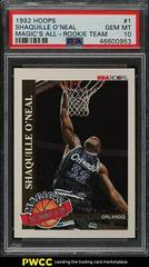 Shaquille O'Neal Basketball Cards 1992 Hoops Magic's All-Rookie Prices
