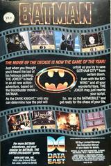 Reverse Box Art   Batman the Movie Commodore 64