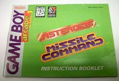 Arcade Classic - Manual | Arcade Classic: Asteroids and Missile Command GameBoy