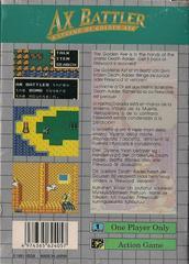 Ax Battler A Legend Of Golden Axe - Back | Ax Battler a Legend of Golden Axe Sega Game Gear