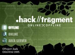 Main Title Screen | .hack Fragment JP Playstation 2