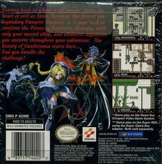 Castlevania Legends - Back | Castlevania Legends GameBoy