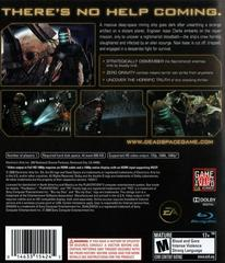 Back Cover | Dead Space Playstation 3