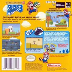 Back Cover   Super Mario Advance 4 GameBoy Advance