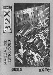 Cosmic Carnage - Manual | Cosmic Carnage Sega 32X