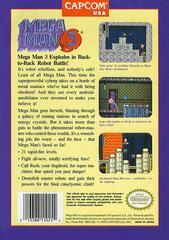 Back Cover | Mega Man 3 NES