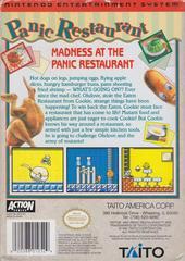 Panic Restaurant - Back   Panic Restaurant NES