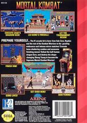 Back Cover | Mortal Kombat Sega Genesis