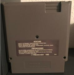 Cartridge Back   Donkey Kong PAL NES