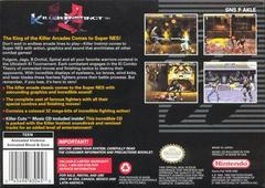Back Cover | Killer Instinct Super Nintendo