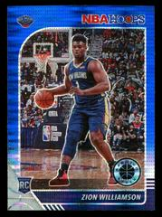 Zion Williamson [Blue Pulsar] Basketball Cards 2019 Panini Hoops Premium Stock Prices