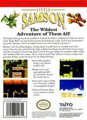 Little Samson - Back   Little Samson NES