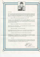 Letter From Mike (Canadian Version) English   Mike Tyson's Punch-Out NES