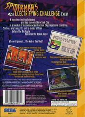 Spiderman Web Of Fire - Back | Spiderman Web of Fire Sega 32X