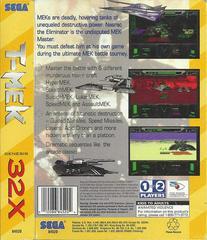 T-Mek - Back | T-Mek Sega 32X