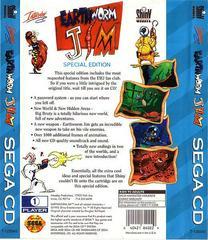 Earthworm Jim: Special Edition - Back | Earthworm Jim: Special Edition Sega CD
