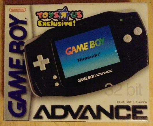 Black Gameboy Advance System Cover Art