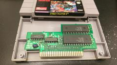 Cartridge Label And Board Back | Street Fighter II Super Nintendo