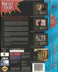 Night Trap Rerelease - Back | Night Trap Sega CD