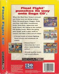 Final Fight CD - Back | Final Fight CD Sega CD
